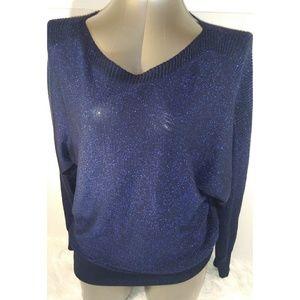 Joseph A. | Women's Shimmer Blue Sweater